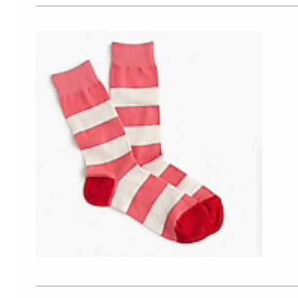 J. Crew Accessories - J. Crew Trouser socks in rugby stripes NWT